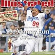 Los Angeles Dodgers Manny Ramirez, 2008 Nl Division Series Sports Illustrated Cover Art Print