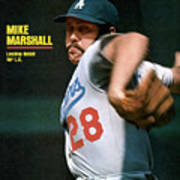 Los Angeles Dodgers Mike Marshall... Sports Illustrated Cover Art Print