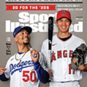 Los Angeles Dodgers Mookie Betts And Los Angeles Angels Sports Illustrated Cover Art Print