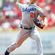 Los Angeles Dodgers V Cincinnati Reds Art Print