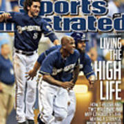 Los Angeles Dodgers V Milwaukee Brewers Sports Illustrated Cover Art Print