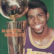 Los Angeles Lakers Earvin Magic Johnson, 1980 Nba Finals Sports Illustrated Cover Art Print