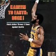 Los Angeles Lakers Kareem Abdul-jabbar, 1980 Nba Western Sports Illustrated Cover Art Print