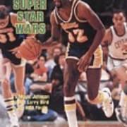 Los Angeles Lakers Magic Johnson, 1984 Nba Finals Sports Illustrated Cover Art Print