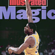 Los Angeles Lakers Magic Johnson, 1990 Nba Western Sports Illustrated Cover Art Print