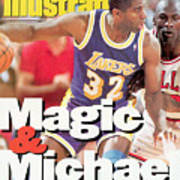 Los Angeles Lakers Magic Johnson, 1991 Nba Finals Sports Illustrated Cover Art Print