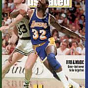 Los Angeles Lakers Magic Johnson And Boston Celtics Larry Sports Illustrated Cover Art Print