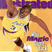 Los Angeles Lakers Magic Johnson Sports Illustrated Cover Art Print
