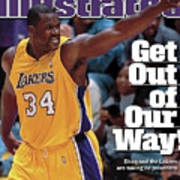 Los Angeles Lakers Shaquille Oneal, 2001 Nba Western Sports Illustrated Cover Art Print