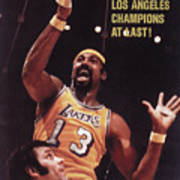 Los Angeles Lakers Wilt Chamberlain, 1972 Nba Finals Sports Illustrated Cover Art Print