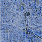 Los Angeles Map Retro 5 Art Print