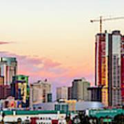 Los Angeles Skyline Sunset - Panorama Art Print