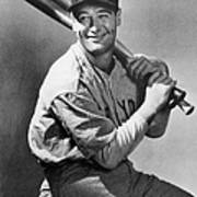 Lou Gehrig Holding Three Baseball Bats Art Print
