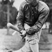 Lou Gehrig In Jacket Swinging Art Print