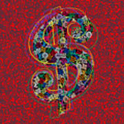 Louis Vuitton Dollar Sign-7 Art Print