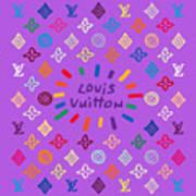Louis Vuitton Monogram-8 Art Print