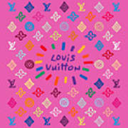 Louis Vuitton Monogram-9 Art Print