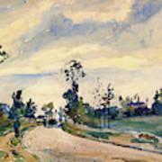 Louveciennes, Road Of Saint-germain - Digital Remastered Edition Art Print