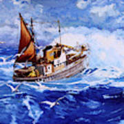 Lowestoft Trawler Art Print
