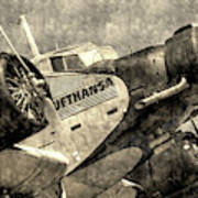 Lufthansa Junkers Ju 52 Vintage Art Print