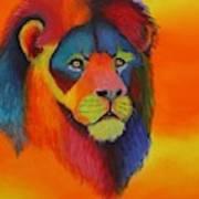 Luminesent Lion  Art Print