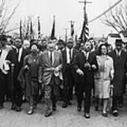 Luther King Marches Art Print