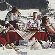 Luxury In The Snow Art Print