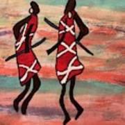 Maasai Dancers Art Print