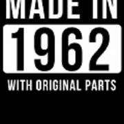 Made In 1962 Art Print