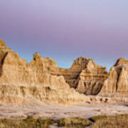 magenta Dawn in the Badlands  Art Print