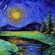 Magic Night - Detail 1 - Fantasy Landscape Art Print