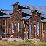 Main Street Buildings At Bodie Historic Art Print