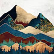 Malachite Mountains Art Print