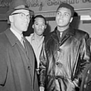 Malcolm X Left With Cassius Marcellus Art Print