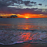 Malibu Pier Sunrise Art Print