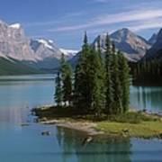 Maligne Lake, Jasper National Park Art Print