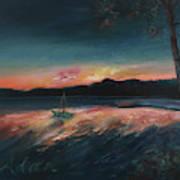 Malletts Bay Sunrise Colchester Vermont Art Print