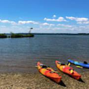 Mallows Bay And Kayaks Art Print