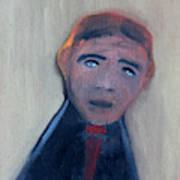 Man In A Black Shirt Art Print