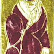 Man In A Crimson Hat Art Print