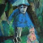 Man In A Park With A Baby Art Print