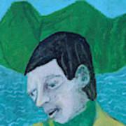 Man Leaving An Island Art Print