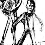Man Standing With A Bird Art Print