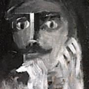 Man With A Handlebar Moustache Art Print