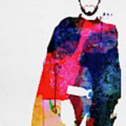 Man With No Name Watercolor Art Print
