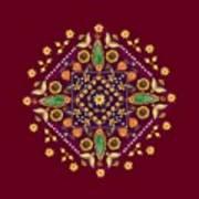Mandala Flowering Series#2. Terracotta Art Print