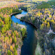 Manistee River From Above In Spring Art Print