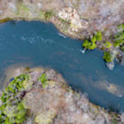 Manistee River From Above Art Print