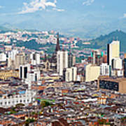 Manizales City View, Colombia Art Print