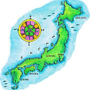 Map Of Japan Art Print